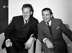 Bruce Forsyth with Norman Wisdom in 1961
