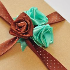 Make these adorable roses out of satin ribbon, perfect for accessories or gift-wrapping. It can be used for non-traditional bouquet, too!