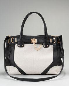 Zoe Canvas Tote Bag by Rachel Zoe at Neiman Marcus.