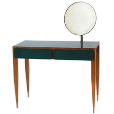Gio Ponti Vanity From Hotel Parco Dei Principi, Roma 1964 | From a unique collection of antique and modern vanities at http://www.1stdibs.com/furniture/tables/vanities/
