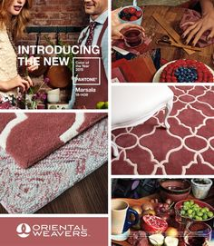 Hearty and stylish! The Pantone Color of the Year 2015 Marsala now available Oriental Weaver rugs.