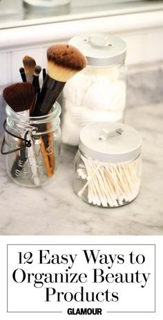 Organize your bathroom with 12 easy makeup storage tips, tricks, and ideas.