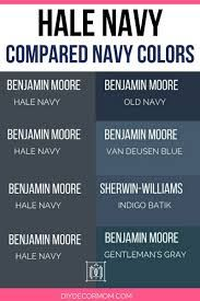 Benjamin Moore Hale Navy: The Classic Navy Paint Color Navy Paint Colors, Office Paint Colors, Exterior Paint Colors For House, Bedroom Paint Colors, Paint Colors For Home, Exterior Colors, Diy Exterior, Exterior Shutters, Neutral Paint