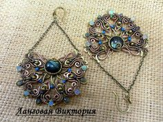 Earrings jewelry wire wrap large boho earrings long
