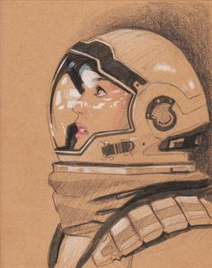 Interstellar - Anne Hathaway fanart by libou