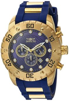online shopping for Invicta Men's 'Pro Diver' Quartz Stainless Steel Polyurethane Casual Watch, Color:Blue (Model: from top store. See new offer for Invicta Men's 'Pro Diver' Quartz Stainless Steel Polyurethane Casual Watch, Color:Blue (Model: Big Watches, Casual Watches, Cool Watches, Watches For Men, Wrist Watches, Luxury Watches, Leather Watch Box, Rubber Watches