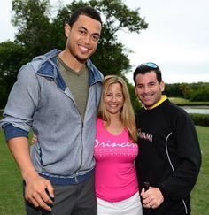 Giancarlo Stanton and David Samson, President of the Miami Marlins Giancarlo Stanton, Miami Marlins, Ny Yankees, Celebrity Photos, Adidas Jacket, Presidents, Athletic, Celebrities, Sports