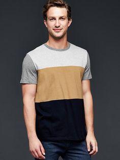 Essential colorblock t-shirt Product Image Polo Shirt Style, T Shirt, Tank Man, Slim, My Style, Mens Tops, Image, Fashion, Moda