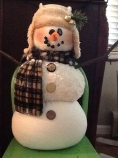 Woodland snowman!