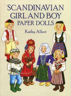 Scandinavian girl and boy - paper doll 1