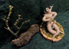 God Pan OOAK Jute altar figure Hadmade by Rowan Duxbury positivelypagan.com