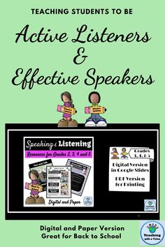 "This comprehensive unit has activities to increase engagement as you teach students the procedures for ""Active Listening,"" ""Turn and Talk,"" & ""Accountable Talk."" It includes anchor charts, posters & bookmarks for student reference.There are also Turn and Talk, and Accountable Talk task cards to practice these skills. Perfect for Back to School. Digital and paper version included. #speakingandlistening #3rdgrade #4thgrade #5thgrade Student Teaching, Teaching Kids, Reading Comprehension For Kids, Student Bookmarks, Persuasive Letter, Accountable Talk, Vocabulary Word Walls, Student Photo, Active Listening"