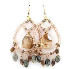 McKayla Chandelier Earrings in Champagne Agate