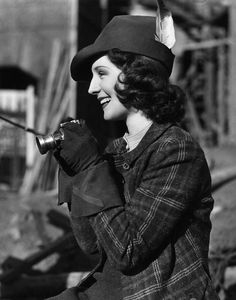 Norma Shearer on the set of Romeo and Juliet, 1936. #vintage #1930s #actresses #hats