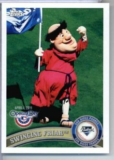 2011 Topps Opening Day Mascots Baseball Card #M19 Swinging Friar - San Diego Padres - MLB Trading Card In A Protective Screwdown Display Case! by Topps. $3.95. 2011 Topps Opening Day Mascots Baseball Card #M19 Swinging Friar - San Diego Padres - MLB Trading Card In A Protective Screwdown Display Case!