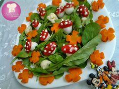 Salada colorida divertida http://www.anaclaudianacozinha.com/2013/10/salada-colorida-divertida.html