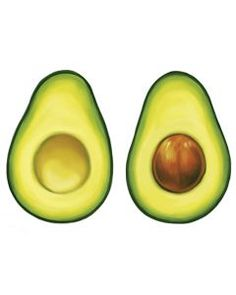 Avocado Couples Temporary Tattoo