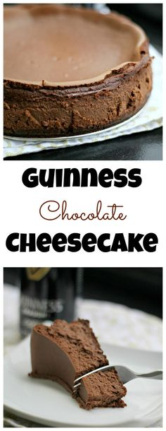 Guinness Chocolate Cheesecake - A rich chocolate cheesecake made even ...