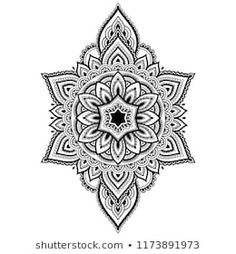 Circular pattern in form of mandala for Henna, Mehndi, tattoo, decoration. Decorative ornament in ethnic oriental style. Coloring book page. Geometric Mandala Tattoo, Mandala Flower Tattoos, Mandala Tattoo Design, Tattoo Designs, Mandala Sketch, Tribal Hand Tattoos, Elbow Tattoos, Time Tattoos, Body Art Tattoos