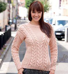 Пуловер (ж) 20 Tricot Creatif Phildar №4540