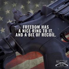 Freedom has a nice ring, and a little bit of recoil! (:Tap The LINK NOW:) We provide the best essential unique equipment and gear for active duty American patriotic military branches, well strategic selected.We love tactical American gear Marine Tattoo, Grunt Style, Military Quotes, Military Humor, Army Life, Military Life, Army Mom, Military Deployment, Military Service