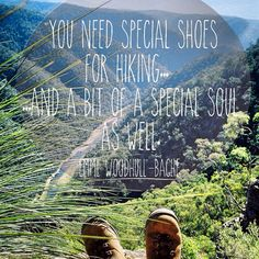 Hiking quote of the day to inspire to to breathe deeply and think happy outdoors thoughts! #hiking #quotes