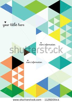 stock vector : Abstract Geometric Background / Vector Illustration / Book Cover / Background Design / Graphics / Layout / Content Page