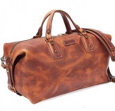 Coronado Leather Americana Duffel # 205 Saddle Am205sd