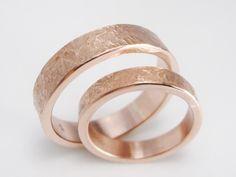 Ringmaße: Breite: 4 mm & 5 mm, Größe: eure! Material: Roségold 333  Das…