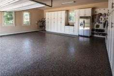 Your garage floor needs maintenance too, just like the rest of your home. There is nothing more unsightly than a garage floor that is badly in need of repair. How long has it been since you were happy to open your garage door? Garage House, Garage Shed, Garage Workshop, Garage Doors, Dream Garage, Garage Workbench, Garage Cupboards, Small Garage, Garage Art
