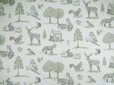 Clarke & Clarke New Forest F0785/01 Natural curtain fabric<br />We recommend a sample of this fabric if colour is important to you as colours on different screens may vary.