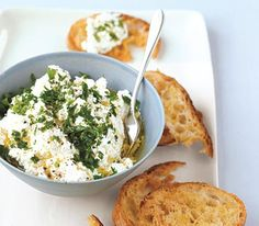 Ricotta and Herb Spread - Going to try wit vegan ricotta!