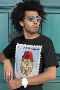 "T-shirt 100% coton ""Lion kingdom of Morocco"" - lepetitdromadaire.com Lion Kingdom, Morocco, T Shirt, Unisex, Man Women, Supreme T Shirt, Tee, T Shirts"