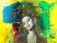 Dream Gouache painting by Aleksandra Galas Gouache Painting, Mixed Media Painting, Pastel, Crayons, Acrylics, Watercolors, Image, Artworks, Portraits