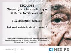 Szkolenie dla Opiekunek osób starszych - Demencja - opieka nad chorym (z elementami transferu).