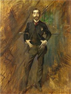 """John Singer Sargent"", 1890, by Giovanni Boldini (Italian, 1842-1931). Sargent (1856-1925) was an American artist, considered the leading portrait painter of his generation."