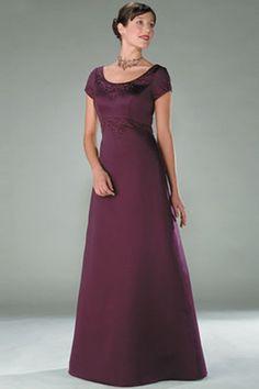 Floor Length A Line Purple  Satin Mother Of The Bride Dresses Under 100