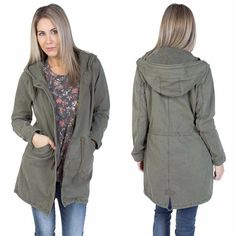 Silver icing. Canvas jacket, army green in color.  XS-XL sizes silvericing.com/tiffanym Silver Icing, Canvas Jacket, Stylish Clothes For Women, Army Green, Military Jacket, Jackets, Shopping, Color, Tops