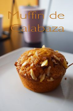 Muffin de calabaza, naranja y crujiente de almendras #Vegan #calabaza #muffin