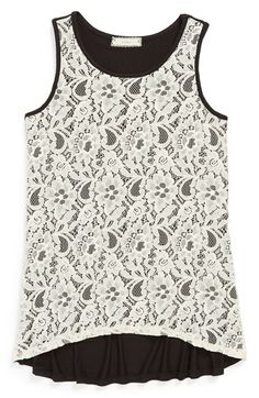 Soprano High/Low Sleeveless Top (Big Girls) available at #Nordstrom