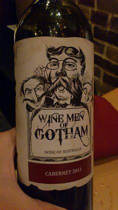WINE MEN OF GOTHAM Gotham, Rum, Packaging Design, Vodka Bottle, Drinks, Food, Decor, Wine, Drinking