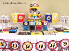 Mega Superhero Birthday  Party Package Save over 15 by kppboutique, $134.00