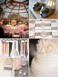 Perfect!!! This inspiration board combines blush with classic ivory and gray for a timeless feel.