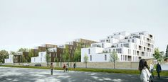 OLGGA Social Housing.   Caen, France.