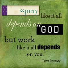 I've been taking Dave Ramsey's FPU class and will make tiles of this saying for the other attendees.