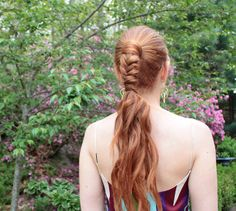ponytail with fishtail accent tutorial