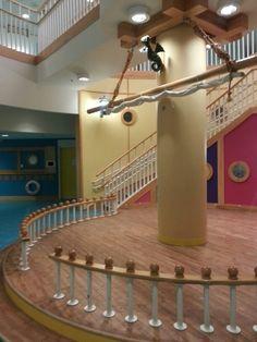 Janeway Children center in St-John's Newfoundland center stairwell pirate ship