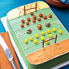 Fun Super Bowl party cake idea from @AllYou