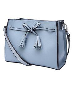 Blue Bow-Accent Kate Crossbody Bag #zulily #zulilyfinds