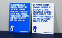 Brand New: New Logo and Identity for Race Against Dementia by Brand Union